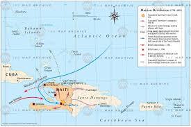 Haiti Map Haitian Revolution 1791 U20131803