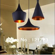 black and copper pendant light single head tom nobility metal musical instrument restaurant bedroom