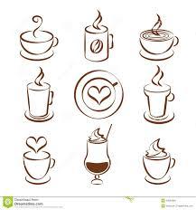 set of coffee cup vector symbols stock vector image 43854868