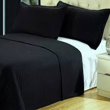 king size coverlets and quilts com modern solid black lightweight bedding quilt coverlet