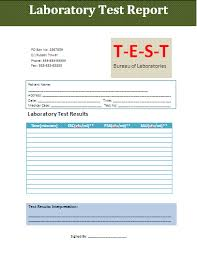 test result report template test report template free business templates