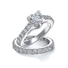 wedding ring bridal set sterling silver cz pave engagement wedding ring bridal set