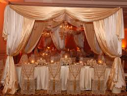 Wedding Hall Decorations Wedding Hall Decoration Satin Drapery