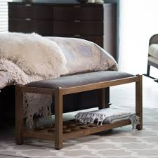 bedrooms window seat bench bedroom bench for king bed tufted
