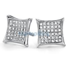 real diamond earrings 25ct diamond kite micro pave earrings 925 silver 925 silver