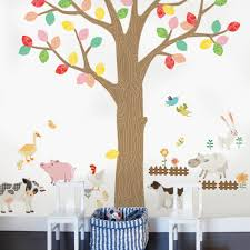 farm animals wall sticker peel and stick repositionable fabric farm animals wall sticker