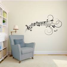 wall art designs strike a melodious word music note wall art