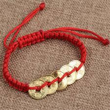 bracelet lucky images Fd4601 new feng shui red string lucky coin charm bracelet for good jpg