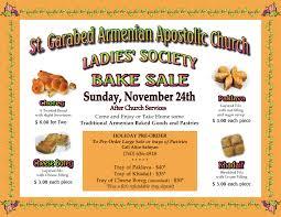 society annual bake sale st garabed armenian