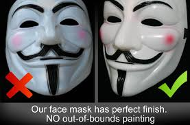 1 x anonymous v for vendetta guy fawkes fancy dress costume face