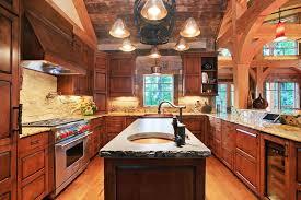 u shaped kitchen designs with island kitchen design rustic u shape kitchen design with built in