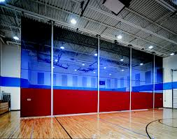 Basketball Curtains Indoor Gym Equipment Storagecraft