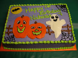 halloween sheet cakes