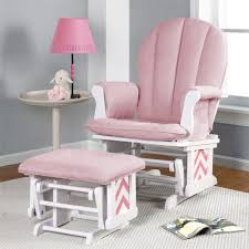 Glider Chairs For Nursery Furniture Upholstered Nursery Glider Rocker And Ottoman With