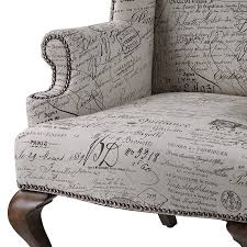 French Wingback Chair Sterling Marianne Wing Chair French Script 6071399 Nook U0026 Cottage