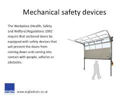 Overhead Door Safety Edge Safety Device Options For Sectional Overhead Doors