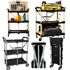 Kitchen Utility Cart by Details About Rolling Serving Cart Folding Garage Kitchen Utility
