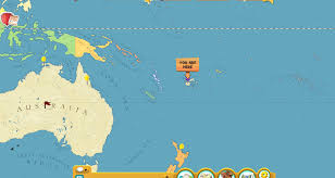 Oceania Map Fiji Location On The Oceania Map New World Pointcard Me