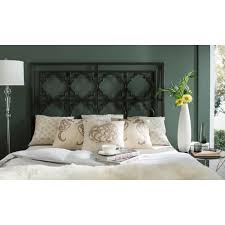 King Headboard by Safavieh Silva Gunmetal King Headboard Fox6216b K The Home Depot