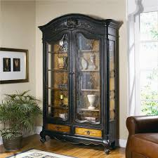 Slaters Furniture Modesto by Hooker Furniture North Hampton Bonnet Top Display Cabinet Ahfa