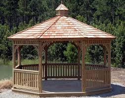 treated pine single roof octagon gazebos gazebos by style octagon