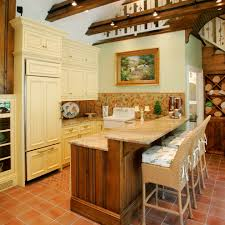marvelous two level counter kitchen farmhouse with hidden