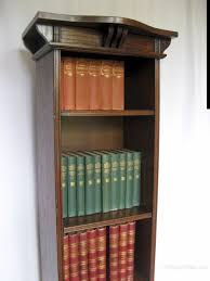 Tall Narrow Bookcase by Arts And Crafts Tall Narrow Open Bookcase Antiques Atlas
