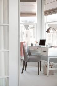 Stylish Home Office Desks Stylish Home Office Features Bay Window With White Desk And Gray