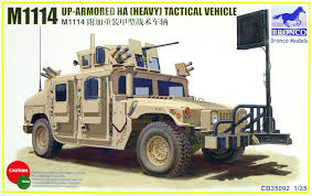 armored humvee interior amazon com bronco models 1 35 m1114 up armored ha heavy