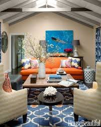 what color paint goes well with an orange couch