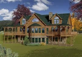 large log home floor plans hennessey katahdin cedar log homes floor plans