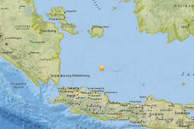 Java World Map by Magnitude 6 5 Earthquake Recorded North Of Indonesia U0027s Java Island