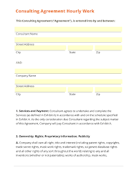 consulting contract template sample