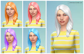 custom hair for sims 4 custom non default hair colors now available the sims forums