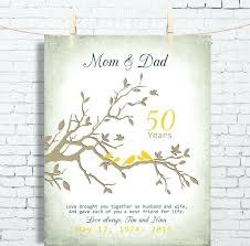 anniversary gifts for parents 50th wedding anniversary gifts for parents fiftieth wedding