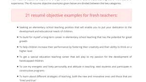Sample Resume For Special Education Teacher by Download Objective For A Teacher Resume Haadyaooverbayresort Com