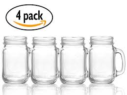 mason jars with handle coffee mug u2013 set of 4 mason mugs 16 oz
