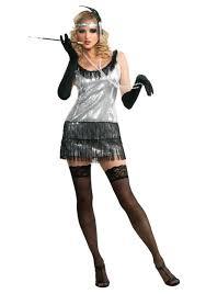Halloween 1920s Costumes Black Silver 20 U0027s Sequin Flapper Costume Flapper Costumes