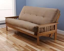 Wooden Frame Sofa Bed Amazon Com Andover Full Size Futon Sofa Bed Honey Oak Wood Frame