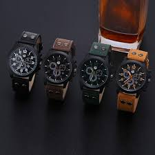 Most Rugged Watch Military Leather Waterproof Date Quartz Watch Army Men U0027s Quartz