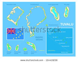 map of tuvalu tuvalu map flag bright colorful map stock vector 124419256
