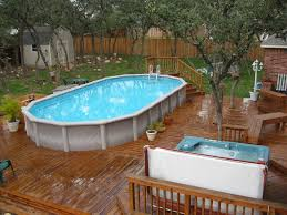 decorating beautiful design of outdoor above ground swimming pool