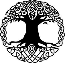 celtic knot tree of vinyl decal