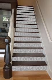 Grey Mosaic Tile Painted Stairway 15 Stairs Stairways Design