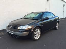 renault megane 2005 2005 55 renault megane dynamique 2 0 convertible with black