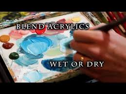 how to blend acrylic paint this is a very simple video explaining