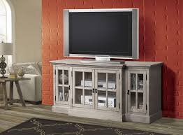 Acme Cabinet Doors Julian Gray Wood Tv Stand W 4 Glass Doors Entertainment The