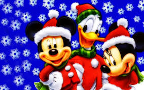 mickey mouse donald duck and minnie christmas wallpaper hd