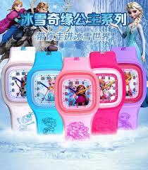snow ice romance silicone jelly watch fashion cartoon sports kids
