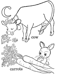 carrot and cow coloring pages alphabet c alphabet coloring pages